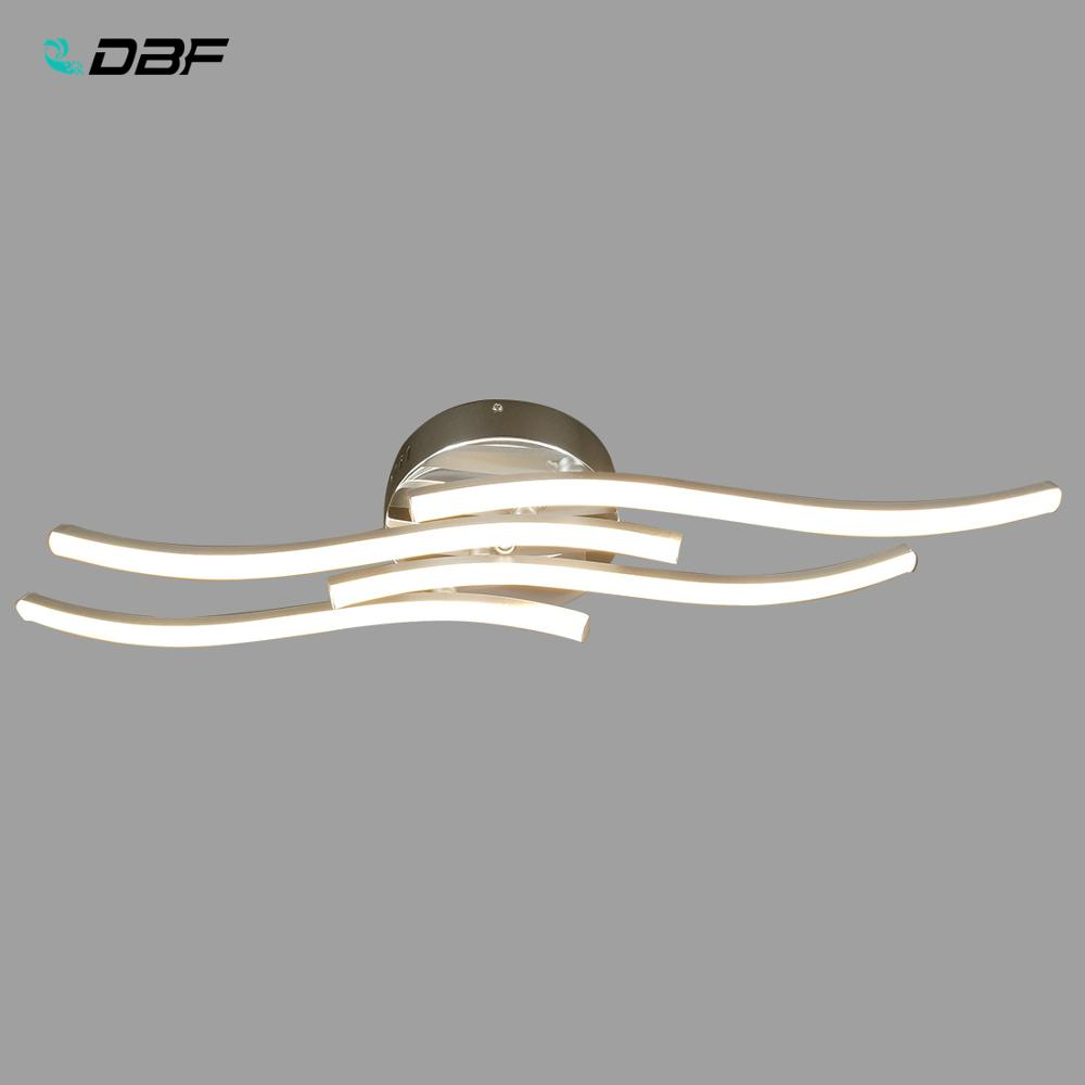 [DBF]Modern Wavy LED Ceiling Lights 24W Round Curved Design Ceiling Lamp Warm/Cold White Light For Aisle Living Room Decor