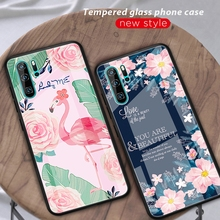 Tempered Glass Case For Huawei P30 Pro Gradient Painted Cover Mate 20 Lite Coque Funda
