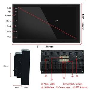 "Image 4 - Podofo אנדרואיד 2din רכב רדיו 7 ""מולטימדיה נגן Autoradio מגע מסך GPS WIFI Bluetooth רכב אודיו רדיו סטריאו מראה קישור"