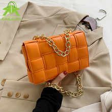 Solid Color Fashion Shoulder Handbags 2021 New Female Travel Cross Body Bag Weave Small PU Leather Crossbody Bags For Women