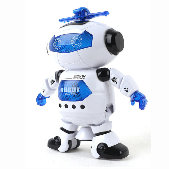 Hot 360 Space Rotating Smart Dance Astronaut Robot Music LED Light Electronic Walking Funny Toys for