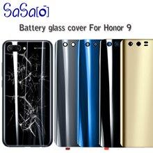 10 unids/lote de reemplazo de la cubierta trasera de la batería de cristal para Huawei Honor 9 lite carcasa trasera con pegatina
