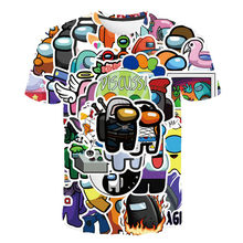 Boys and girls cartoon print short-sleeved T-shirt 2021 new street casual children's clothing 4-14 years old