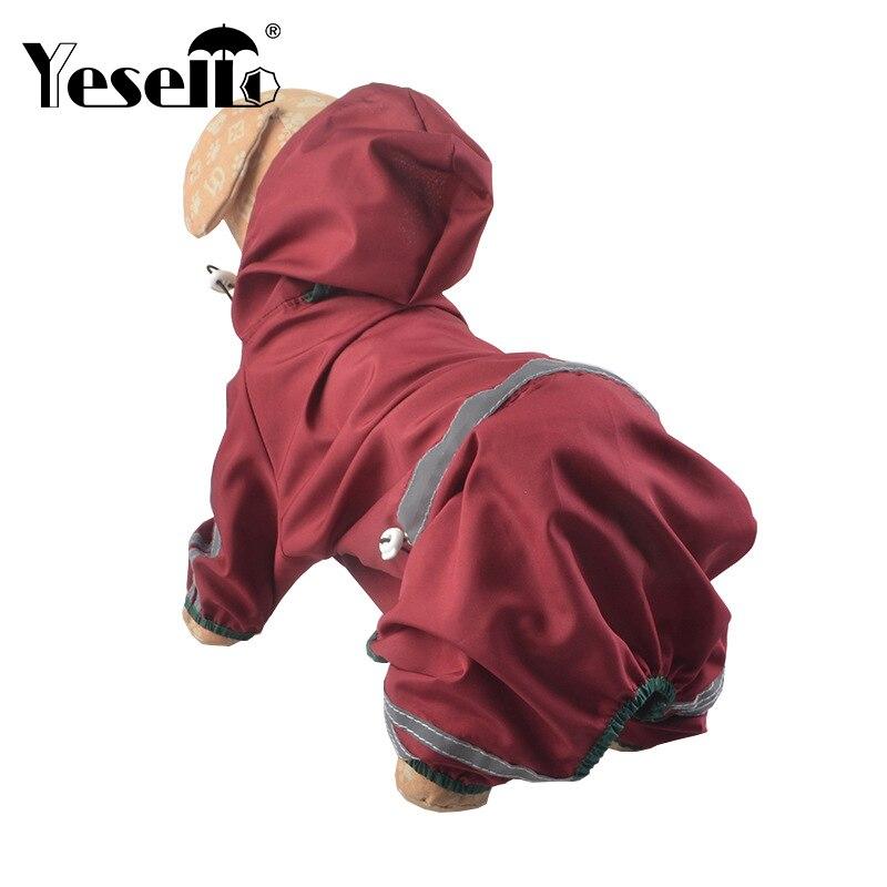 3 Color PVC Dog Raincoat Coat Pet Dog PVC Single Layer Raincoat Pet Clothing Apparel Reflective Puppy Waterproof Poncho