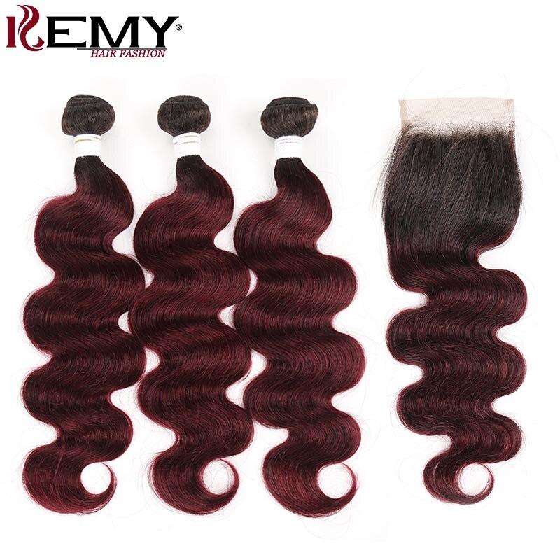 T1b30 pacotes de cabelo humano marrom ombre