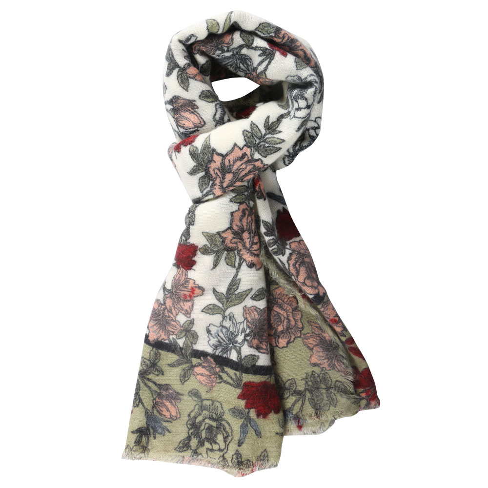 2019 Women's Winter Scarf And Pashmina Classic Floral Printed Shawls Wrap  Female Lady Fashion Thick Soft Warm Cashmere Scarves