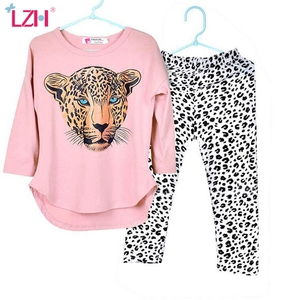 Children Clothing 2020 Autumn Winter Girls Clothes T-shirt+Pants Christmas Outfit Kids Clothes Girl Suit For Girls Clothing Sets
