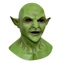 Halloween Mask Imp Demon Mask Headgear Green Masks Funny Masks Holiday