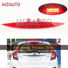LED High Positioned Mounted Additional Third Brake Light For Honda Fit/Jazz 2014 Car styling Stop Lamp Warning Light