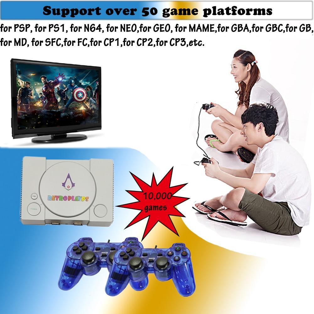 PSP חדש ארקייד משחק וידאו Console עבור PSP עבור SEGA HD פטל פאי 50 סימולטורים שחקן bulit-ב 10,000 משחקים Wired Gamepad מתנה Boy (1)