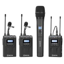 Boya BY-WM8 pro whm8 pro microfone condensador microfone sem fio sistema de áudio gravador vídeo receptor para canon nikon sony câmera