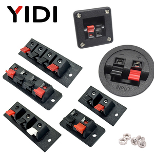 2pcs 6pcs 10pcs 2 3 4 Positions Connector Terminal Push In Jack Load Spring 4 Poles Audio Speaker Terminals Plug Socket Clip