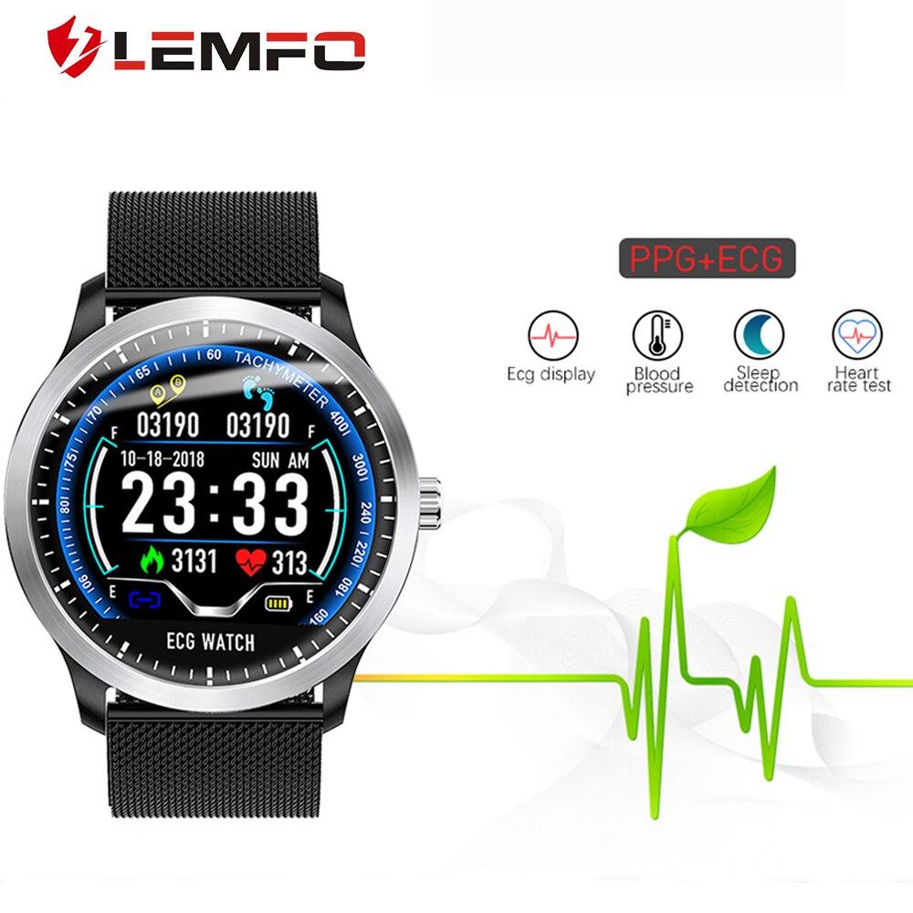 LEMFO N58 PCG + ЭКГ IP67 мужские умные часы водонепроницаемые пульсометр кровяное давление браслет сменный для старшего|Смарт-часы|   | АлиЭкспресс