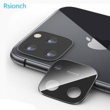 Rsionch חזרה מצלמה עדשת מסך מגן עבור iPhone החדש 11 פרו מקסימום 11 פרו 11 מזג זכוכית מתכת אחורי עדשה הגנה