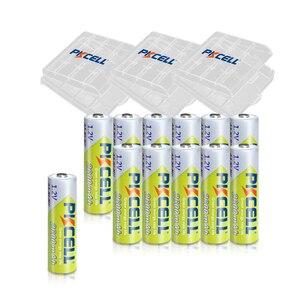Image 1 - 12個pkcell aa充電式バッテリーニッケル水素1.2v 2600mah 1.2v 2A電池 + 3個のバッテリーボックスホルダーケース