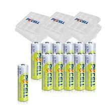 12Pcs PKCELL AA Batteria Ricaricabile NIMH 1.2V 2600MAH 1.2V 2A Batterie + 3pcs Contenitori di Batteria cassa del supporto