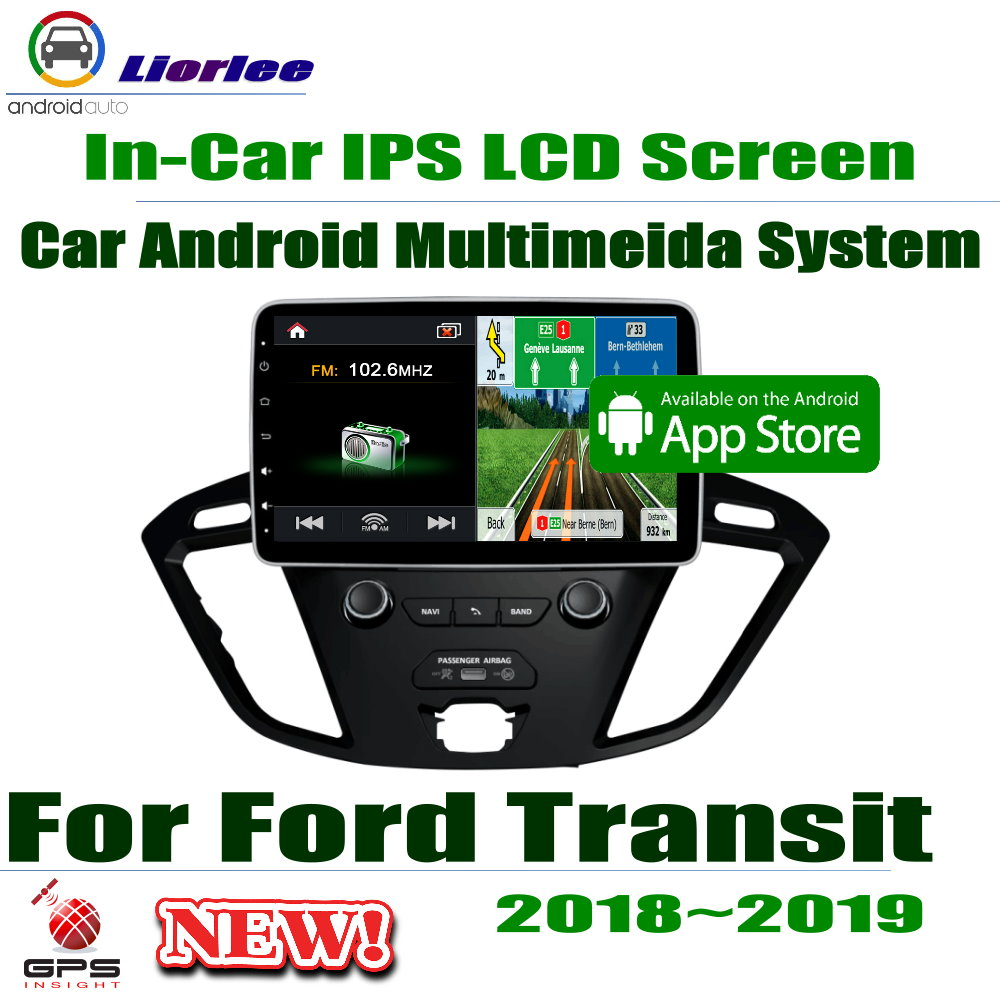 """10.1"""" HD Full Touch IPS LCD Screen Android 8 Core For Ford Transit 2018~2019 Car Radio Stereo Audio Video GPS Navigation System"""