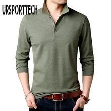 Ursporttech новая модная брендовая мужская рубашка поло однотонная