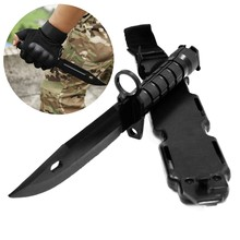 M9 daga modelo táctico de bayoneta plástica para regalo juguete ejército Fan recoger CS juego entrenamiento militar herramienta multiusos para el aire libre cuchillo de goma