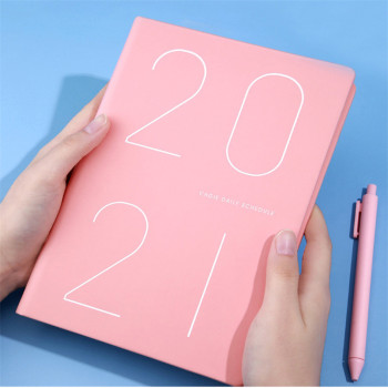 2021 Agenda Jan-Dec Planner Organizer A5 Notebook Daily Weekly Monthly Schedule Business Plan Journals Stationery Kpop 2020 sharkbang vintage a5 loose leaf business spiral notebook journals monthly weekly planner agenda papelaria stationery