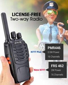 Image 2 - Walkie Talkie 4 stücke Retevis H777 Plus PMR446 Walkie Talkies PMR Radio FRS H777 Handliche Zwei Weg Radio station USB Lade Für Hotel