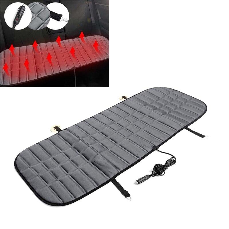130CM 12V 42W Car Rear Heated Seat Pad Car Heater Cushion Cover Auto Winter Warmer Heater Automotive Accessories