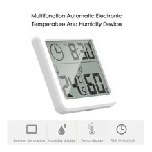 Creative Digital Thermometer Temperature Sensor Humidity Household home decor Dry Hygrometer Auto Detection Wall Table Clocks az8760 digital dry hygrometer greenhouse dry bulb thermometer and humidity figures temperature tester instrumentation
