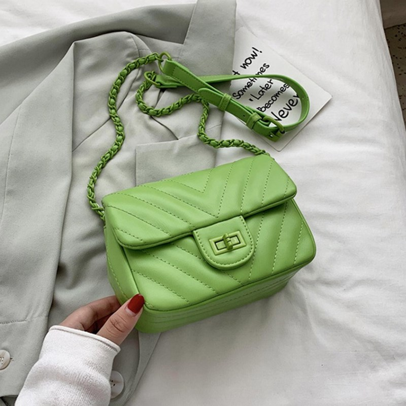 INS стильные зеленые роскошные сумки с клапаном из искусственной кожи для женщин, женские сумки через плечо с цепочкой, сумки через плечо для девочек, сумки, кошельки, Feminina Сумки с ручками    АлиЭкспресс