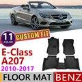 Кожаные автомобильные коврики на заказ для Mercedes Benz E Class Кабриолет A207 2010 ~ 2017 5 мест коврик для ног Аксессуары для ковров E200