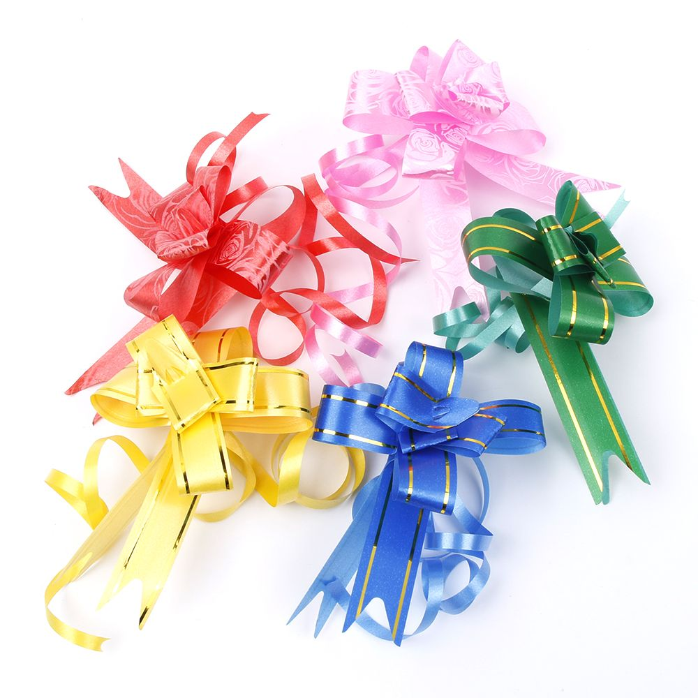 10/50 шт, 18 мм, цветной подарок, лента, бант, ручная работа, подарочная упаковка, сделай сам, день рождения/свадьба/праздничные украшения, потяни...