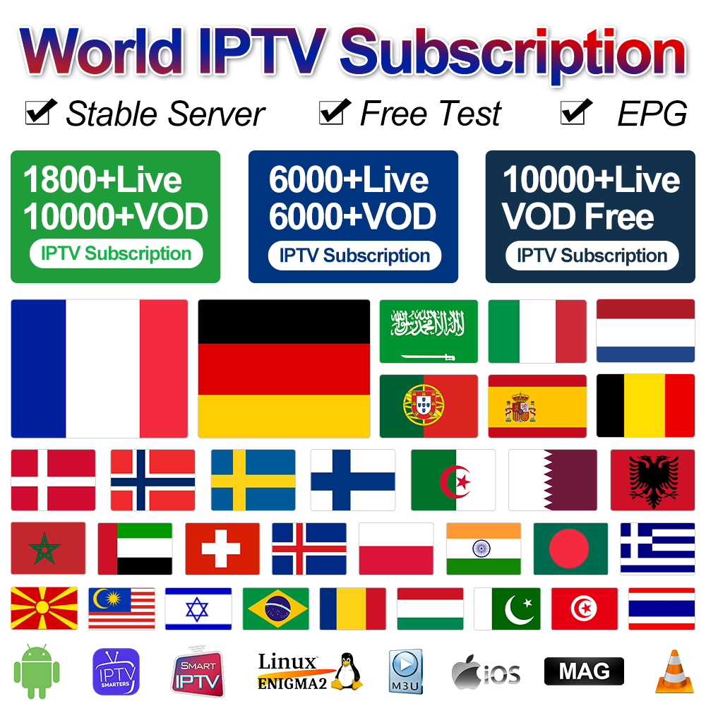 IPTV Spain Portugal Sweden IP TV Subscription QHDTV Sansat Datoo IPTV France Arabic Germany Belgium Turkey Netherlands IP TV