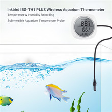 Inkbird IBS TH1 Plus Wireless Bluetooth Thermometer & Hygrometer with Aquarium Probe For Android & IOS Phone Used For Aquarium