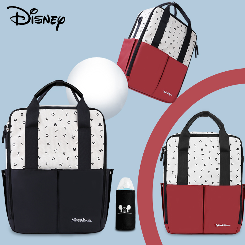 Disney 2020 New Mickey Usb Diaper Bag Backpack Maternity Baby In Diaper Bags Stroller Bag Large Capacity Baby Backpack For Mommy