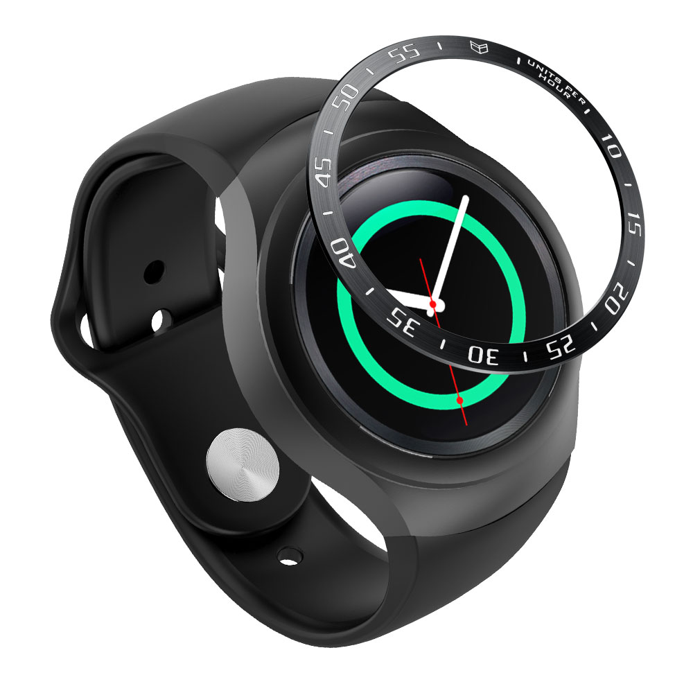For Samsung Gear S2 SM-R720 Stainless Steel Bezel Ring Metal Case Cover Smart Watch Replacement Accessories Strap Band