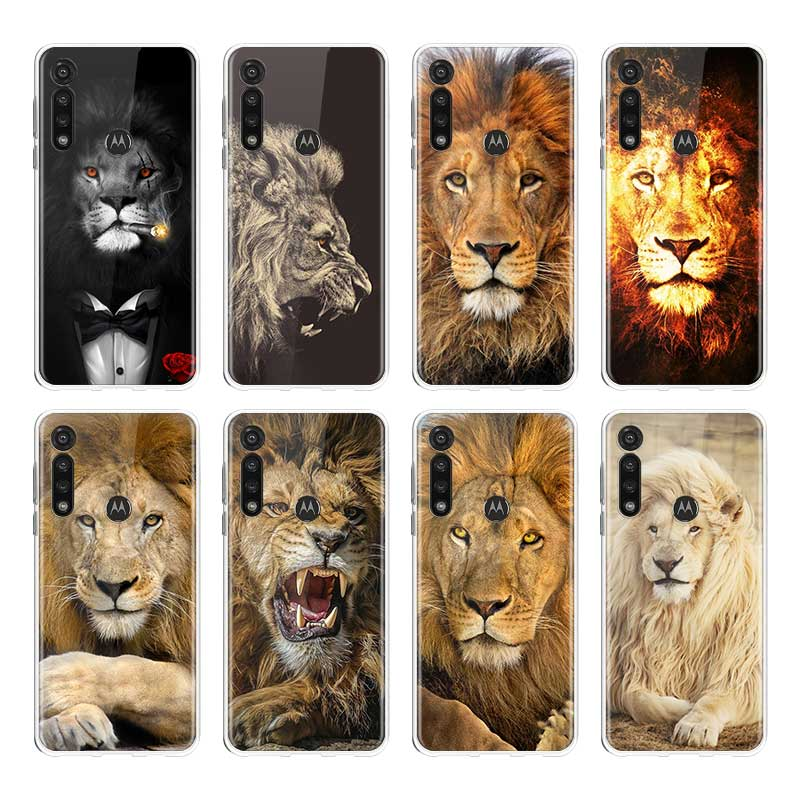 Animal Lion Silicone Case For Motorola G8 Plus G8 Play G Stylus G8 Power Lite E6s One Hyper Edge Plus Back Cover Shell