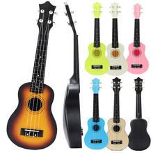 Novo 21-inch de madeira eukriri abs arco voltar piano ukulele quatro cordas guitarra infantil baritone ukulele instrumentos musicais