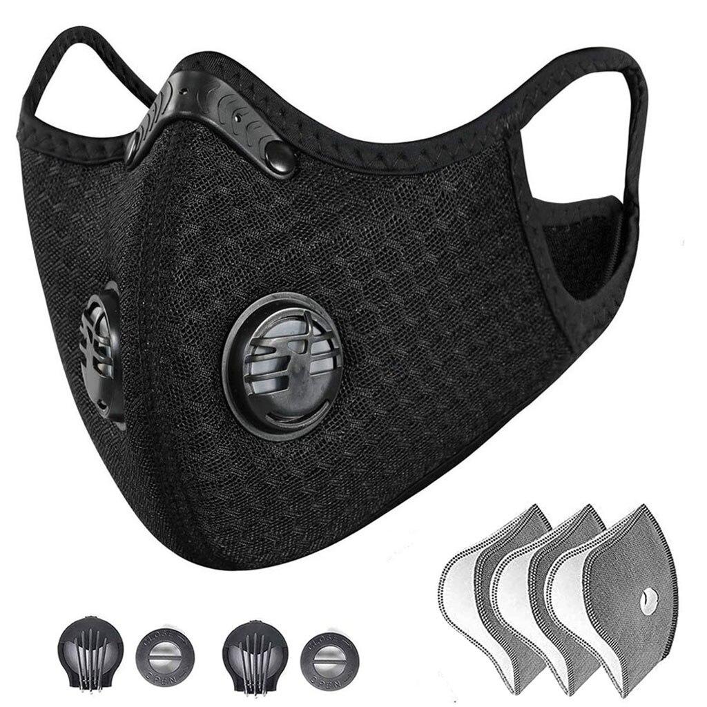 PM2.5 Filter Mouth Maske Dust Half Face Maske Reusable Respirator With Breathing Activated Carbon Filter Mouth Maske Washable