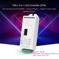 DT8 DALI 5 IN 1 LED Streifen Controller Digital display dimmer einzigen farbe/RGB/RGBW/RGB + CCT ausgang modus 12 ~ 24V Kompatibel DL-POW1