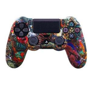 Image 4 - Camouflage Zachte Siliconen Cover Case Bescherming Skin Voor Sony Playstation 4 PS4 Voor Dualshock 4 Controller Voor Ps4 Pro Slim