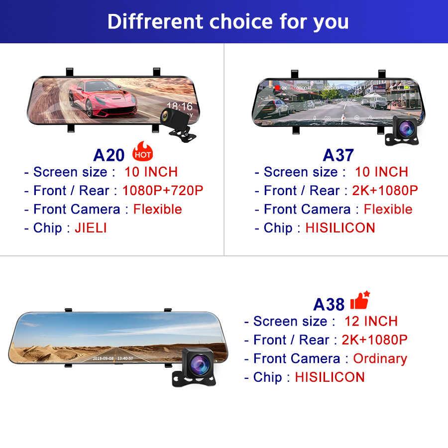 E-ACE Xe Đầu Ghi Hình Camera 10 Inch Cảm Ứng Phát Chiếu Hậu Dash Cam Siêu Nhỏ FHD 1080P Cơ Quan Đăng Ký Đầu Ghi Hình Với camera Quan Sát Phía Sau