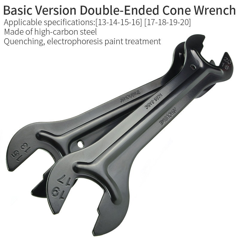 JSHOU BIKE Hub Repair Tools Double-Ended Cone Wrench Bicycle Hub high-Carbon Steel Spanner Hub Axle Tool