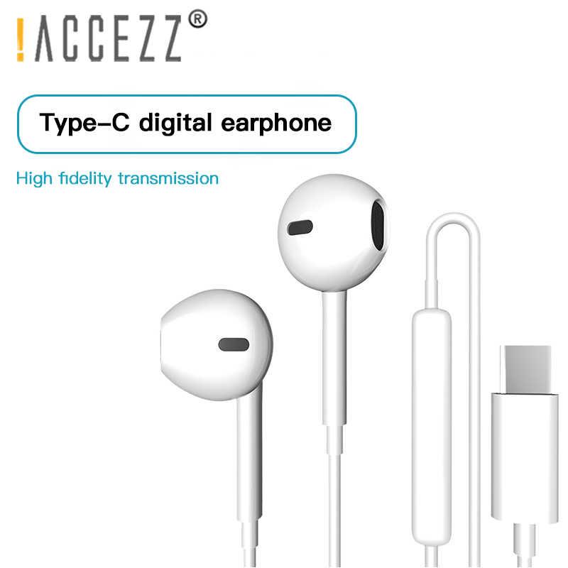 ¡! Auriculares USB tipo C para Huawei Mate10 Pro Mate20 P30 Mic Control de volumen tipo C auriculares para Xiaomi Mi5