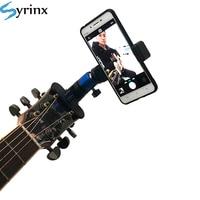 Clip para cabeza de guitarra para teléfono móvil, soporte para transmisión en vivo, trípode para iPhone 11 X, soporte para música de escritorio