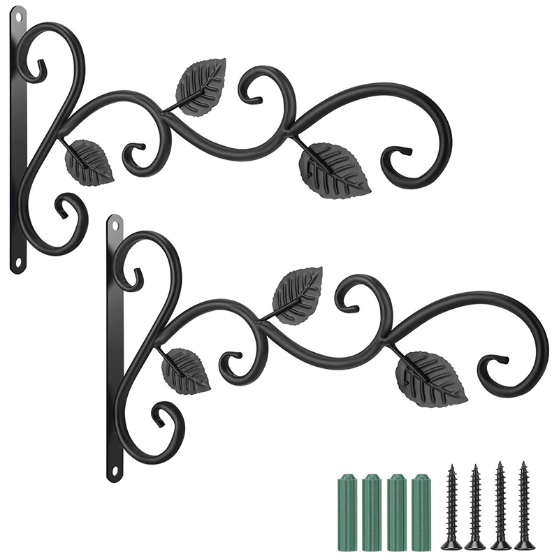 Wall Hook Hanging Plant Bracket - 11.8 Inches Iron Hanging Hooks Screws Included, Decorative Plant Hanger