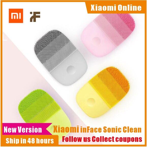 Силиконовая электрощетка Xiaomi inFace, глубокая звуковая очистка лица и массаж, влагозащита IPX7, уход за кожей