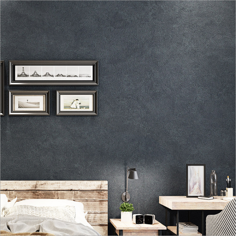 PVC Waterproof Wallpaper Roll Cement Gray Home Decoration Bedroom Living Room Dining Room Background Wall Sticker 3D Wall Paper