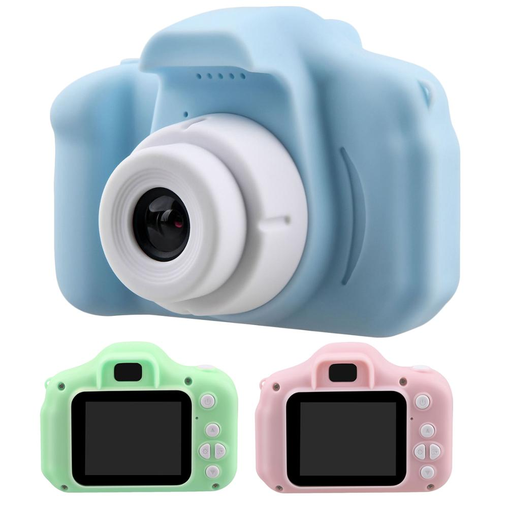 KaKBeir Kids Mini Camera Toy Cute Camcorder Rechargeable Digital Camera With 2 Inch Display Screen Children Educational Toy