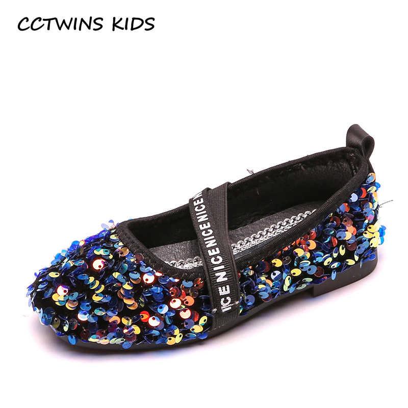 Çocuk Ayakkabı 2019 Çocuk Sonbahar Moda Dans Ayakkabıları Kızlar Yeni Glitter Yumuşak Mary Jane Daireler Çocuk Tatlı Pembe Pu Deri elbise Ayakkabı