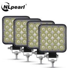 NLpearl 12V 24V LED Licht Bar/Arbeit Licht 42W 48W Mini LED Bar Arbeit Licht off Road Scheinwerfer für Jeep Lkw 4X4 4WD Auto SUV ATV
