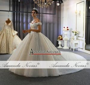 Image 5 - Seksi düğün elbisesi gerçek fotoğraflar hochzeit sapanlar düğün elbisesi 2020 yeni
